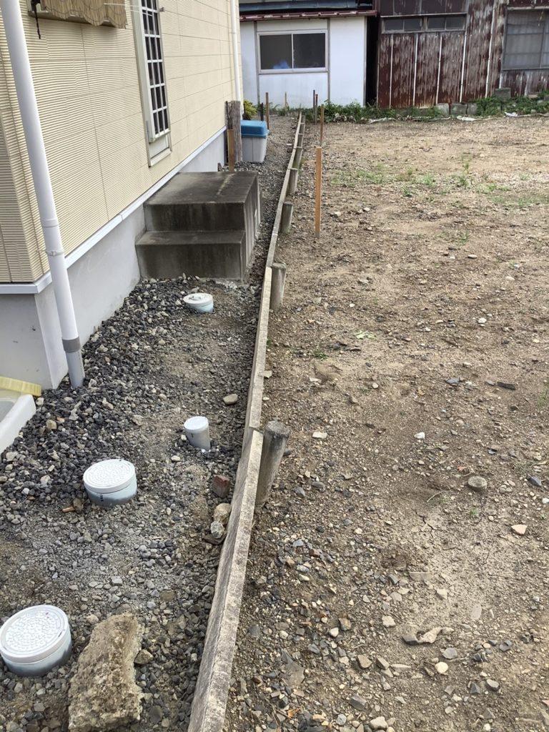 土留めブロック工事