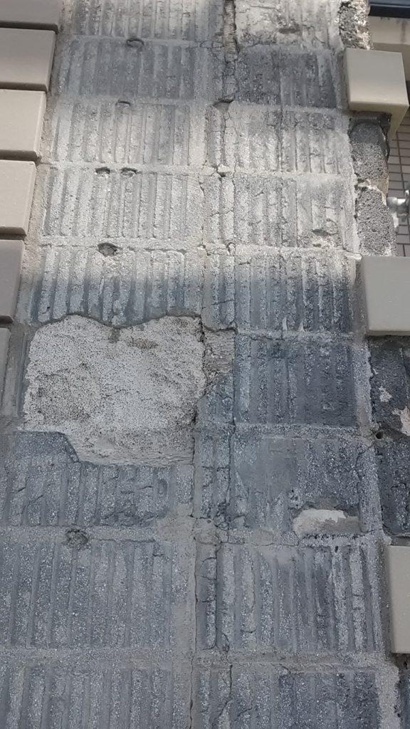 外壁小口タイル張り替え工事