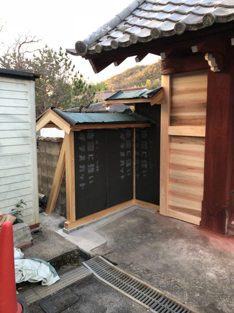 数寄屋塀モルタル・漆喰壁工事