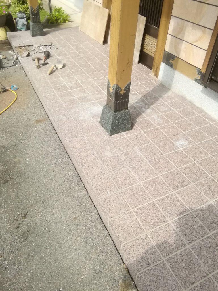 玄関ポーチ張り替え工事