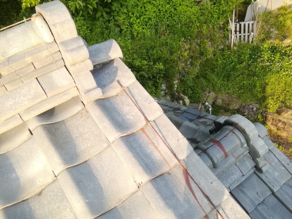 屋根瓦漆喰工事