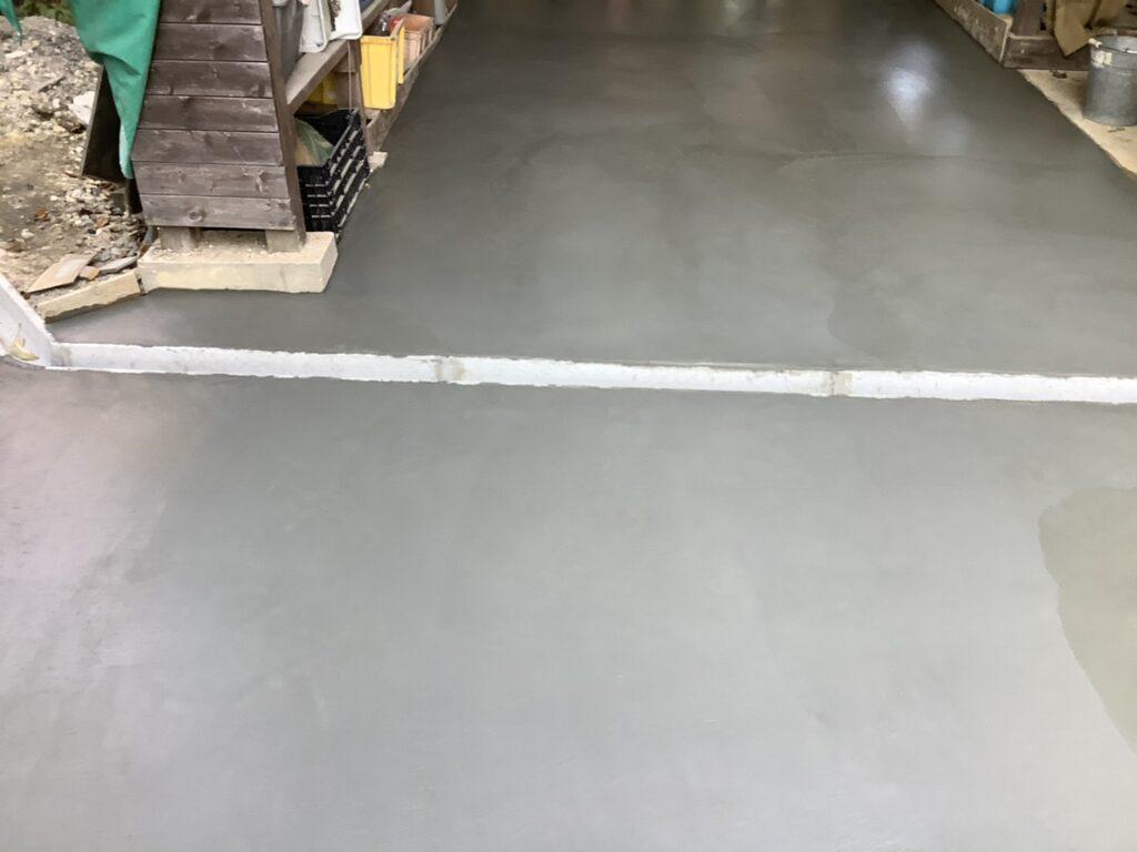 倉庫、アプローチコンクリート工事