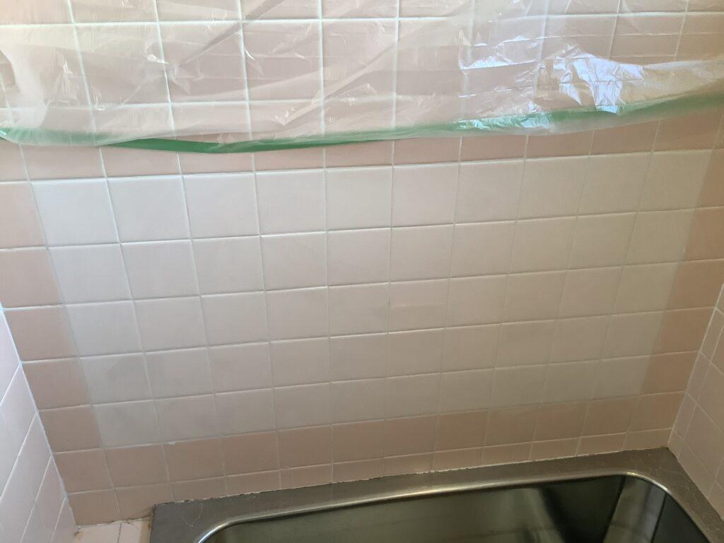 浴室壁タイル補修